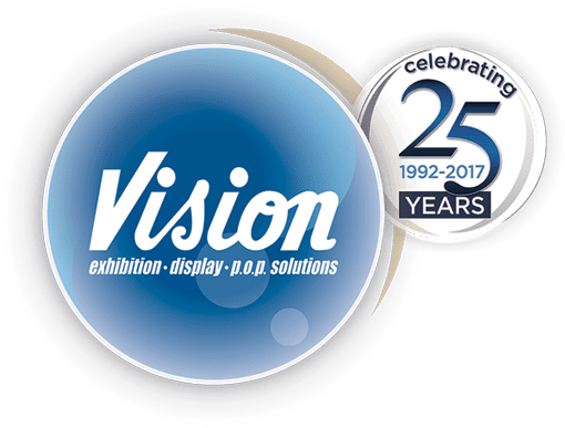 vision exhibition, display, pop solutions
